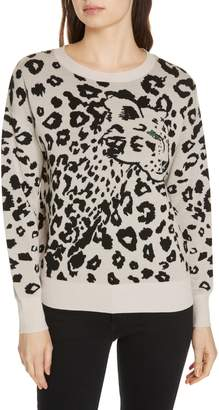 Rebecca Taylor Leopard Jacquard Sweater