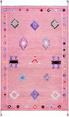 nuLoom Pictographs Ivey Tassel Hand Tufted Wool Blend Southwestern Rug