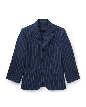 Ralph Lauren Linen Princeton Pinstripe Blazer, Size 4-7