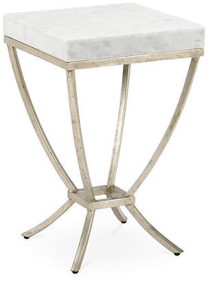 Chelsea House Haskell Marble Side Table - Silver