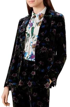 Hobbs London Passionflower Velvet Blazer