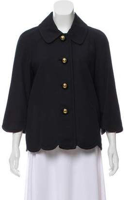 Florence Broadhurst x Kate Spade Scallop Hem Button-Up Jacket