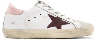 Golden Goose White & Pink Superstar Sneakers