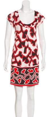 Diane von Furstenberg Abstract Print Silk Dress