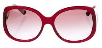 Bvlgari Embellished Oversize Sunglasses
