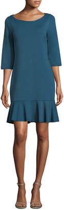 Three Dots Flounce Sheath Dress