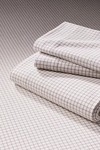 Lands' End 5-oz Flannel Windowpane Sheet Set