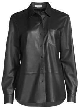 Equipment Brett Leather Blouse