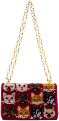 Dolce & Gabbana Multicolor Cats Shoulder Bag