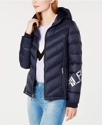 Tommy Hilfiger Logo-Sleeve Puffer Jacket