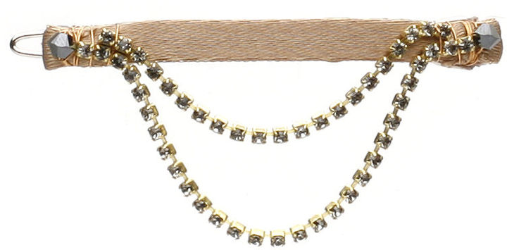 Colette Malouf Crystal Swag Snap Clip, Gold 1 ea