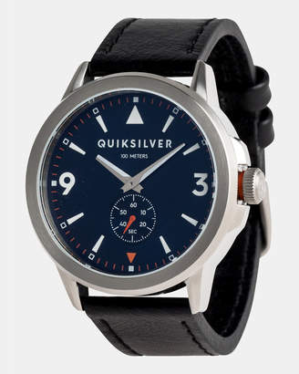 Quiksilver Mens Kombat 43mm Leather Watch