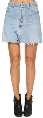 RE/DONE High Rise Mini Skirt
