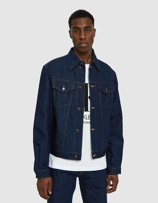 Calvin Klein Jeans Est. 1978 Trucker Jacket in Panel Rinse Indigo