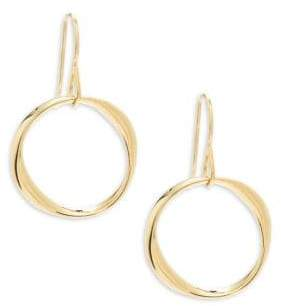 Saks Fifth Avenue 14K Yellow Gold Twisted Earrings