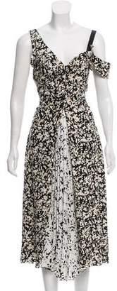 Proenza Schouler Printed Plisse Dress