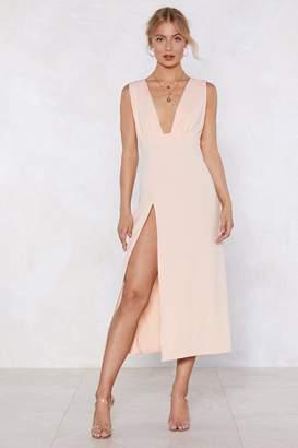 Nasty Gal Deep On Dancing Midi Dress