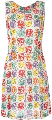 Chanel Pre-Owned Camellia print A-line dress
