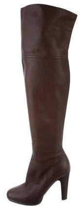 Miu MiuMiu Miu Leather Over-The-Knee Boots