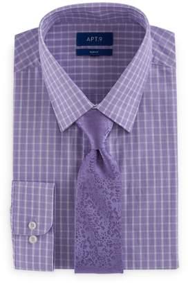 Apt. 9 Men's Slim-Fit Stretch Spread-Collar Dress Shirt & Tie Set