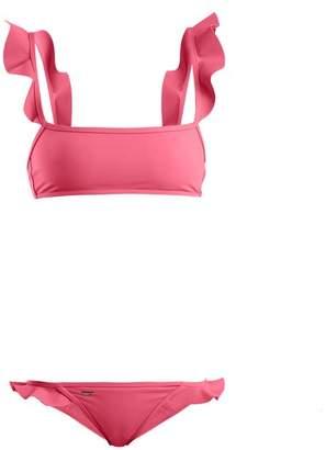 Fendi Ruffled bonded bikini set