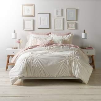 Lauren Conrad Floral Ruched Comforter Set
