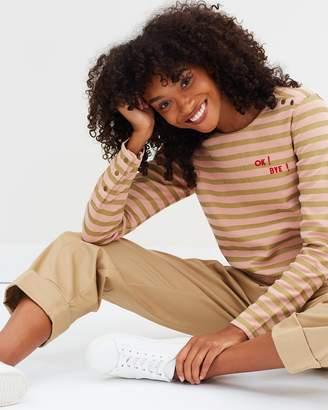Maison Scotch Sailor Button Long Sleeve Sweatshirt