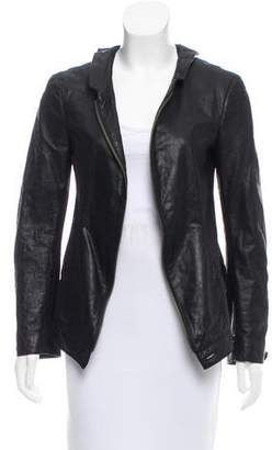 Theyskens' Theory Distressed Leather Jacket