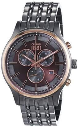 Cerruti Varese Gents Watch Chronograph Quartz Stainless Steel Coated CRA115SUR12MU