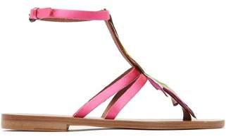 Álvaro alvaro - Ariana Feather Embellished Sandals - Womens - Pink Multi