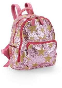 Bari Lynn Pink Star Glitter Backpack