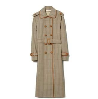 Tory Burch Plaid Trench Coat