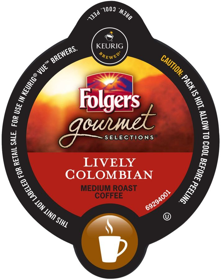VueTM Pack 16-Count Folgers Gourmet Selections® Lively Colombian Coffee for Keurig Brewers