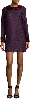 Anna Sui Velvet Collar Shift Dress