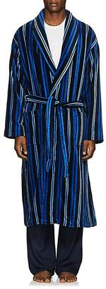 Derek Rose Men's Aston Striped Cotton Velour Robe