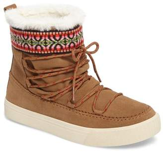 Toms Alpine Leather Faux Fur Lined Boot