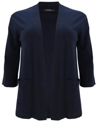 Evans Navy Blue Pocket Cardigan