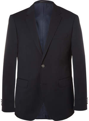 HUGO BOSS Blue Jeremy Virgin Wool-Pique Blazer