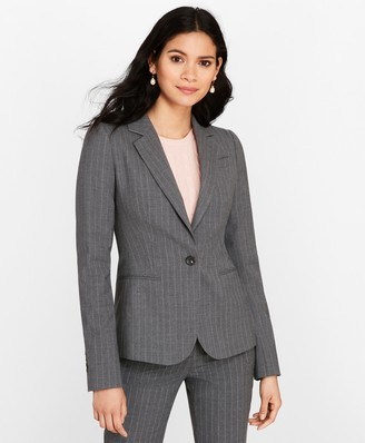 Brooks Brothers Petite Pinstripe Stretch Wool Jacket