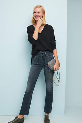 Mother The Hustler Ultra High-Rise Ankle Fray Jeans