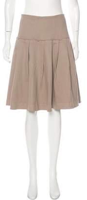 Donna Karan Pleated Knee-Length Skirt