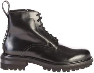 DSQUARED2 Black Branded Ankle Boots