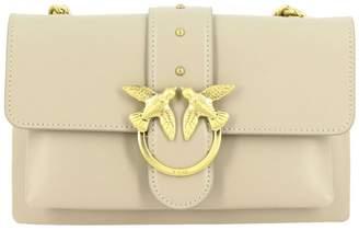 Pinko Crossbody Bags Pink Love Mini 1 Soft Bag In Leather