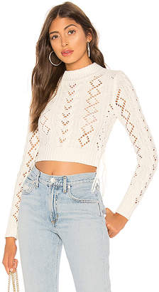 Lovers + Friends Lace Up Crop Sweater