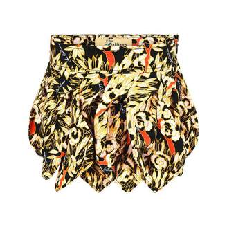 John Galliano John GallianoGirls Black Floral Print Skirt
