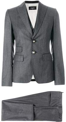 DSQUARED2 pinstriped three piece suit