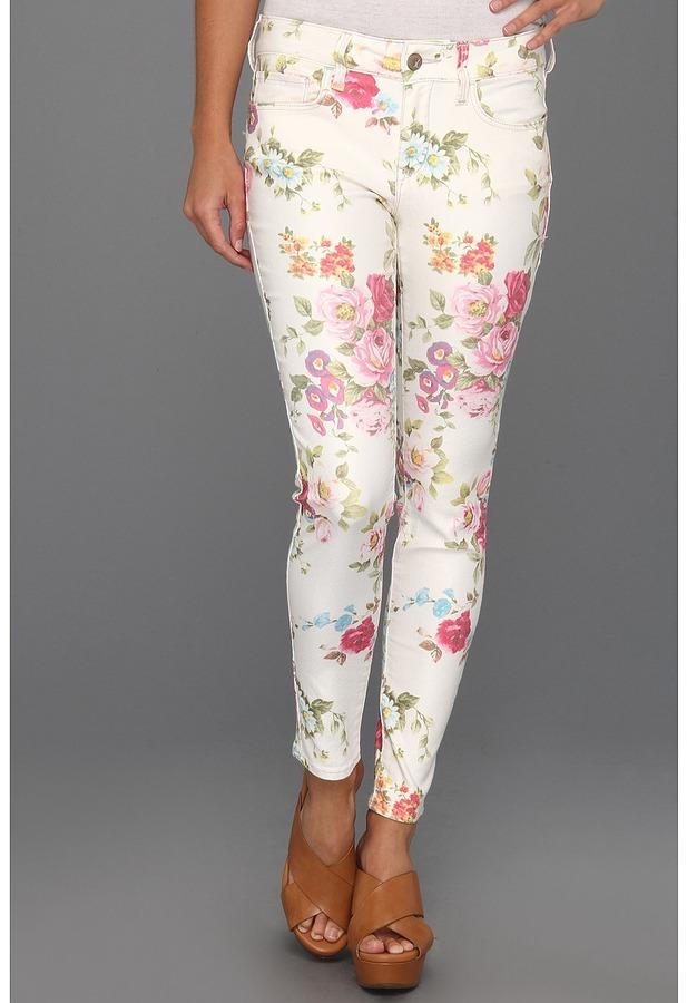 Mavi Jeans Alexa Ankle Mid-Rise Super Skinny in Blush Flower (Blush Flower) - Apparel