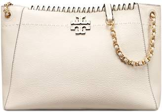 Tory Burch MCGRAW WHIPSTITCH CHAIN SHOULDER SLOUCHY TOTE