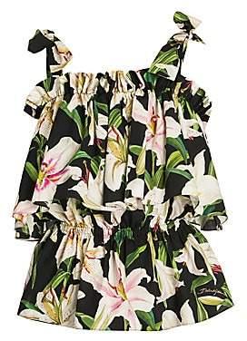 Dolce & Gabbana Women's Shoulder Tie Floral Top