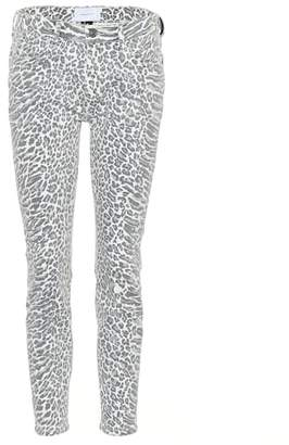 Current/Elliott The Stiletto leopard skinny jeans